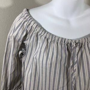 Madewell Tops - Madewell Off The Shoulder Striped Top